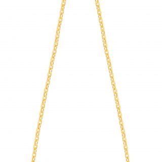 Hollow Diamond Cut Duct Jewelry Chain